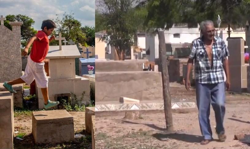 Pobreza al extremo| Armaron sus casas al costado de un cementerio